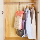 圖案印花夾鏈手提袋(小) 櫥櫃 收納 防塵 懸掛 包包 衣物 分類 整潔 居家【L188】慢思行