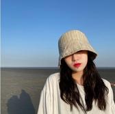 漁夫帽 邪惡先生日本純色復古ins漁夫帽水桶帽女遮陽帽防曬百搭遮臉盆帽