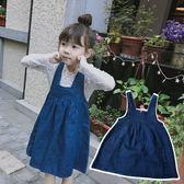 *╮小衣衫S13╭*小女生娃娃款拉鍊牛仔背心裙1070330