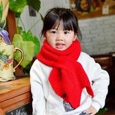 兒童圍巾 針織韓版兒童男女秋冬季兒童圍脖凹造型毛線保暖加厚毛線圍巾【多多鞋包店】yp21