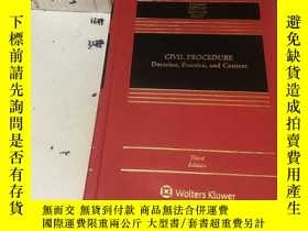 二手書博民逛書店英文原版:civil罕見procedure(third edition)民事訴訟 Doctrine Practic