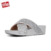 新降66折【FitFlop】LULU GLITTER SLIDES 經典亮片交叉涼鞋-女(銀色)
