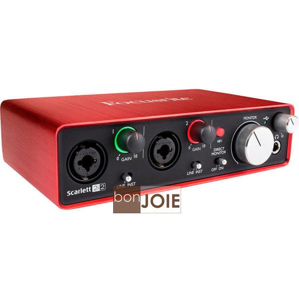 ::bonJOIE:: 美國進口 第二代 Focusrite Scarlett 2i2 (2nd Gen) USB 錄音介面 2in/2out Audio Interface 錄音盒 錄音卡