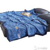 夏季水洗棉空調被雙人夏涼被單人夏天學生宿舍薄被子夏被四件套igo ciyo黛雅
