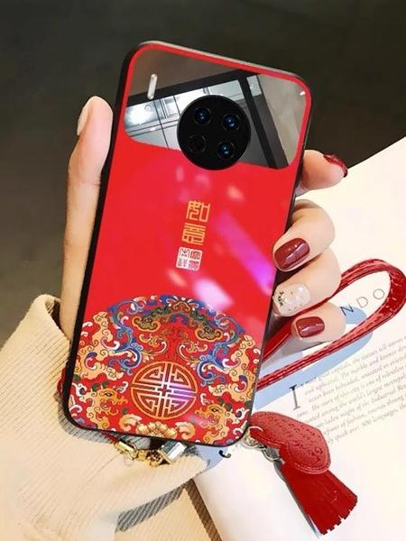 中國風玻璃鏡面華為手機殼mate10女p30防摔p20化妝鏡子mate30外殼mate20保護套prop10plus 夏季上新