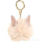 Kate Spade 毛茸茸兔子鑰匙圈(粉膚色) 1840655-05
