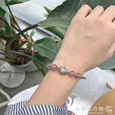 純銀手串女手鍊草莓晶水晶手飾品少女心粉色個性禮物  歐韓流行館