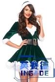 聖誕節聖誕老人服裝性感V領成人冬衣女裙【英賽德3C數碼館】
