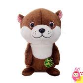 Hamee 日本 扭笑小動物 絨毛娃娃 鳴聲寵物 可動回聲玩偶 說話發聲玩具 迴聲 (水獺) 321737