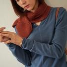 【慢。生活】缺口捲邊圓領柔軟針織衫 8952 FREE藍色