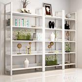 現代簡約鋼木書架置物架多層落地書櫃組合收納架儲物櫃展示架家用JA8404『科炫3C』