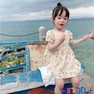 兒童連身裙 寶寶碎花連身裙2021夏季新款透氣韓版田園風洋氣女童公主裙 618狂歡