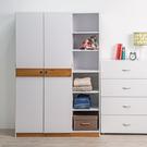 衣櫃 衣櫥 收納【收納屋】日式二門六格衣櫥&DIY組合傢俱