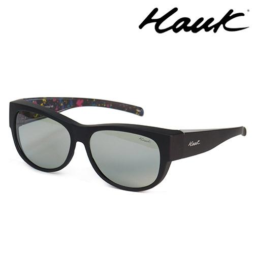 HAWK多用途室內戶外感光變色偏光太陽套鏡(眼鏡族專用)HK1006C-92