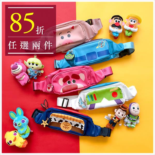 斜背包-迪士尼系列玩具總動員多款人物單肩/斜背腰包-共5款-A17172968-天藍小舖