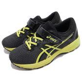 Asics 慢跑鞋 GT-1000 6 PS 黑 黃 魔鬼氈 亞瑟膠 女鞋 大童鞋 中童鞋 運動鞋【PUMP306】 C741N9077