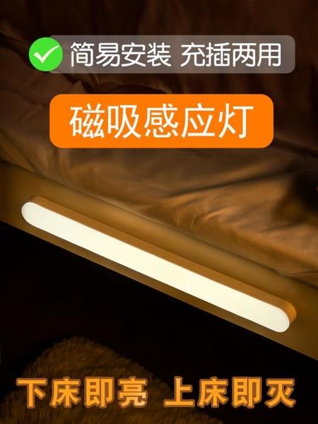 智慧人體感應小夜燈led過道家用充電式自動聲控光控樓道走廊壁燈 果果輕時尚