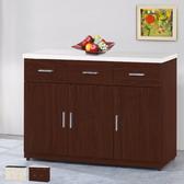 【時尚屋】泰豐4尺石面餐櫃 兩色可選(餐櫃 收納櫃 碗碟櫃)胡桃