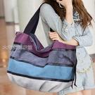 單肩包大容量夏款潮流韓版女包單肩手提包斜挎大包包帆布旅行包行李袋 快速出貨