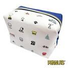 白色款【日本進口】史努比 Snoopy 帆布 化妝包 收納包 PEANUTS - 013472
