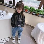 2020春秋季 中小童兒童蝙蝠袖襯衫 男女童寶寶舒適寬鬆條紋上衣  店慶降價