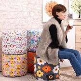 布藝沙發凳子可拆洗時尚圓凳實木換鞋凳梳妝凳穿鞋凳矮凳小凳JY