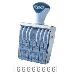 [奇奇文具]     COX3號8連 號碼印40mm