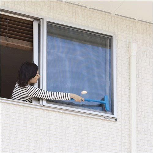 NIPPON SEAL 紗窗清潔刷 紗窗大掃除 折疊式 藍色【JE精品美妝】