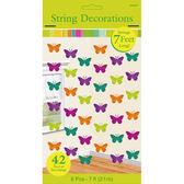 春天 裝飾 裝飾串門簾6入-蝴蝶