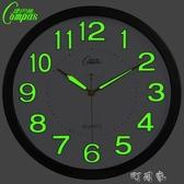 康巴絲夜光靜音掛鐘臥室客廳鐘錶簡約掛錶時鐘時尚壁鐘石英鐘錶 町目家