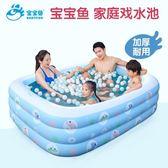 寶寶魚游泳池家用成人超大號兒童水上樂園嬰幼兒寶寶充氣小孩泳池【99狂歡購物節】