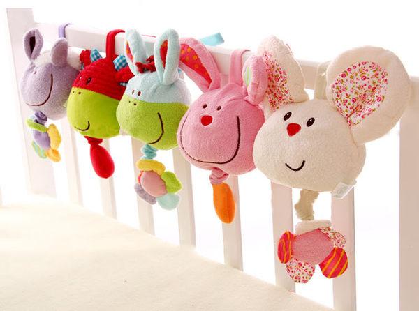 小動物寶寶安撫玩具 音樂盒音樂拉鈴 床推車掛鈴床掛 寶貝童衣