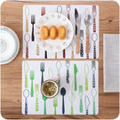 【滿300折30】WaBao 歐式印花防滑西餐墊 餐桌墊 (2入) =D0C201=