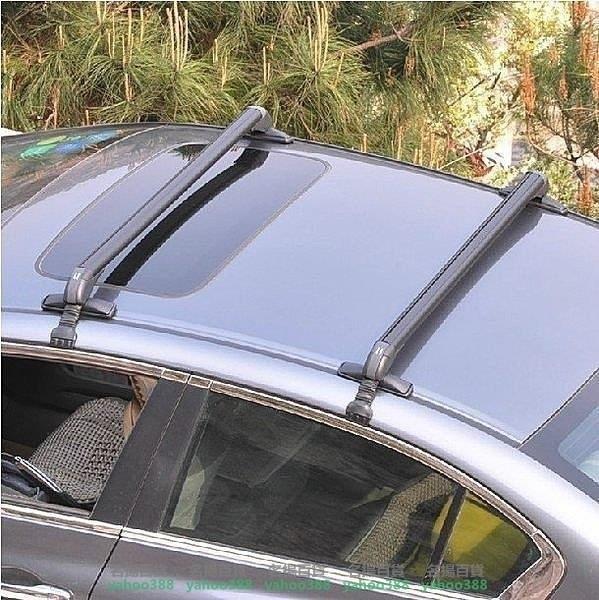 W百貨汽車行李架橫桿車頂架橫桿通用鋁合金車載自行車架汽車 帶鎖載重~經典的外觀設計MY~425