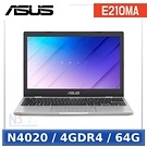 ASUS E210MA-0081WN4020 夢幻白(Celeron N4020/4G/64GB/11.6吋/W10 Home S)