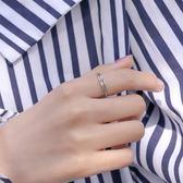 交叉戒指女生復古泰銀小指尾戒