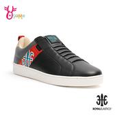 ROYAL ELASTICS 成人男款 Icon Manhood 真皮時尚運動休閒鞋 H9281#黑紅◆OSOME奧森鞋業