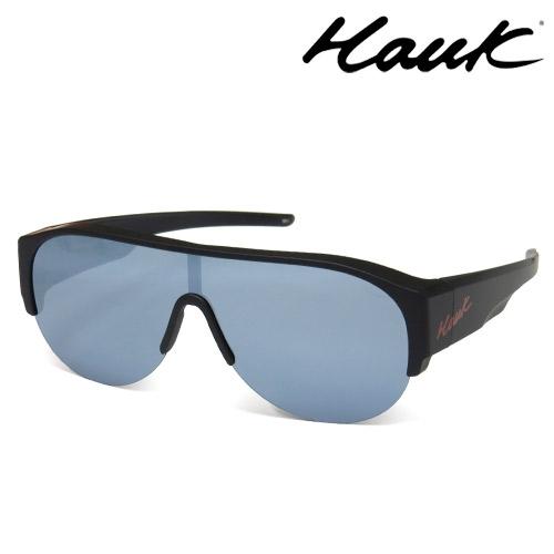 HAWK全片式運動風2用偏光太陽眼鏡 偏光套鏡(眼鏡族專用)HK1019A-02