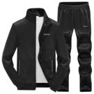 運動套裝 套裝男春秋兩件套新款情侶跑步服長袖衛衣韓版棒球服 KV5165 【野之旅】