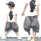 男童寬鬆中褲兒童五分褲夏季沙灘褲