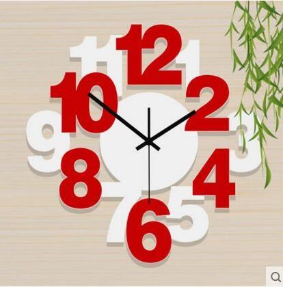 雅刻麗現代個性時鐘靜音客廳掛鐘時尚藝術鐘錶簡約創意臥室石英鐘(16英吋)