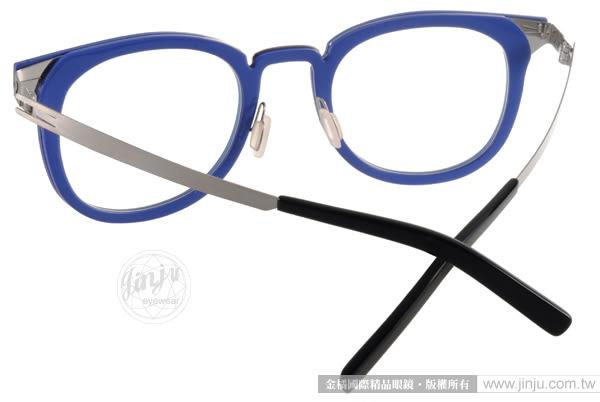 BYWP 光學眼鏡 BY14033 INKBS (藍) 簡約別緻 個性半圓框  # 金橘眼鏡