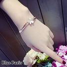 手鍊 - 韓版蝴蝶造型貓眼石手觸+飾品盒【21547】 藍色巴黎 《2色》 【防過敏】