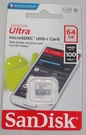 SanDisk Ultra microSDXC UHS-Ⅰ C10 64G記憶卡 全新品【吊卡盒裝】僅小卡