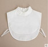 假領子女毛身裝飾雪花立領白色身領秋冬百搭多功能 - 風尚3C