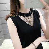 吊帶背心女夏內搭2021春季新款冰絲針織黑白色打底衫無袖上衣外穿【快速出貨】