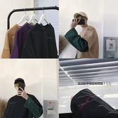 2018春季新款假兩件修身長袖T恤