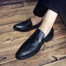 韓版休閒鞋男潮鞋英倫皮鞋尖頭布洛克男鞋潮流夜店發型師鞋子 新品促銷