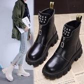 短靴 馬丁靴女英倫風短靴2020年秋冬季新款薄款透氣靴子柳丁女靴 萬圣節