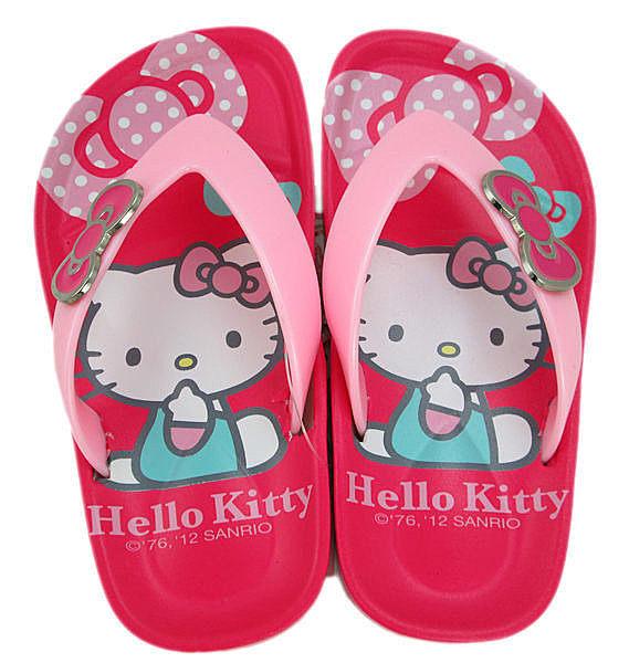 【卡漫城】 瑕疵出清 Hello Kitty 兒童 夾腳拖 18CM ㊣版 橡膠PVC材質 台灣製 拖鞋 人字鞋 凱蒂貓